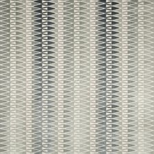 Blue Steel Geometric Decorator Fabric by Kravet
