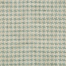White/Turquoise/Light Blue Check Decorator Fabric by Kravet