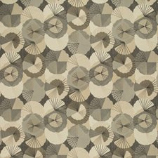 Beige/Black/Charcoal Asian Decorator Fabric by Kravet
