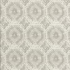 White/Black Geometric Decorator Fabric by Kravet