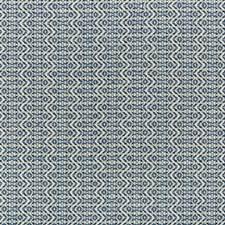 White/Blue/Indigo Geometric Decorator Fabric by Kravet