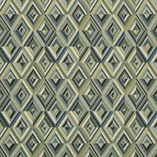 Ivory/Green/Blue Geometric Decorator Fabric by Kravet