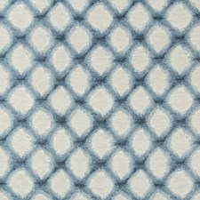 Blue/Ivory/Light Blue Geometric Decorator Fabric by Kravet