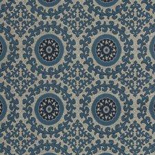 White/Blue/Indigo Ethnic Decorator Fabric by Kravet