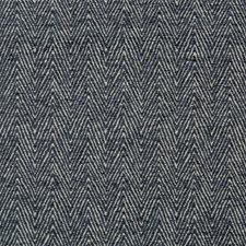 Light Grey/Indigo Herringbone Decorator Fabric by Kravet