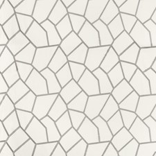 Grey/Light Grey/Ivory Geometric Decorator Fabric by Kravet