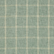 Spa/Ivory/Green Plaid Decorator Fabric by Kravet