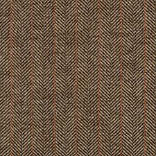 Dark Blue/Brown/Red Herringbone Decorator Fabric by Kravet