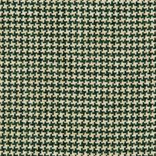 Emerald/Ivory/Green Check Decorator Fabric by Kravet