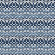 Blue Flamestitch Decorator Fabric by Fabricut