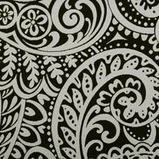 Black/White Paisley Decorator Fabric by Duralee