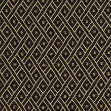 Navy Lattice Decorator Fabric by Fabricut