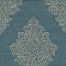 Blue Damask Decorator Fabric by Kravet