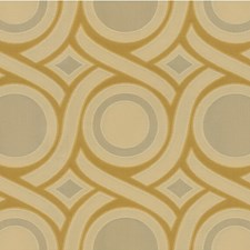 Yellow/Beige Modern Decorator Fabric by Kravet