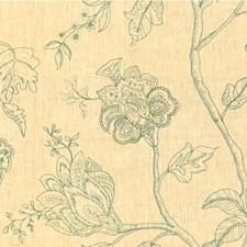 Beige/Slate Botanical Decorator Fabric by Kravet