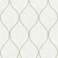 White/Grey Lattice Decorator Fabric by Kravet