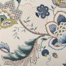 Blueberry Botanical Decorator Fabric by Duralee
