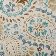 Aqua/Cocoa All Over Decorator Fabric by Duralee