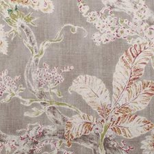 Red/Jade Floral Stylized Decorator Fabric by Duralee