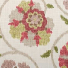 Raspberry/green Decorator Fabric by Duralee