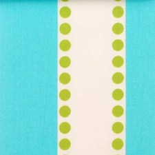 Turquoise/Olive Dots Decorator Fabric by Duralee