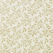 Antique Gold Floral Vine Decorator Fabric by Duralee