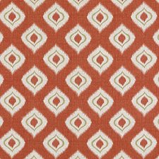 Tomato Ethnic Decorator Fabric by Duralee