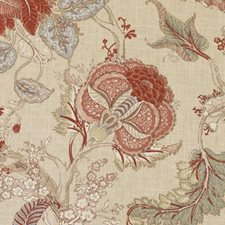 Russett Floral Large Decorator Fabric by Duralee