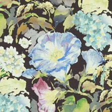 Black Floral Large Decorator Fabric by Duralee