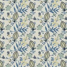 Bluebell Floral Decorator Fabric by Stroheim