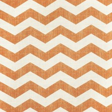 Tangerine Flamestitch Decorator Fabric by Trend