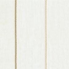 White/Bronze/Beige Stripes Decorator Fabric by Kravet
