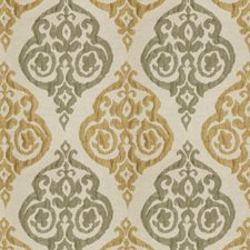 Olive Brass Damask Decorator Fabric by Trend