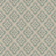 Teal Diamond Decorator Fabric by Fabricut