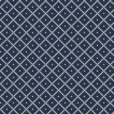 Denim Embroidery Decorator Fabric by Trend