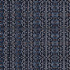 Sapphire Geometric Decorator Fabric by S. Harris