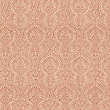 Spiced Coral Jacquard Pattern Decorator Fabric by Fabricut