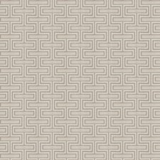 Oyster Geometric Decorator Fabric by Fabricut