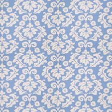 Blue Floral Decorator Fabric by Stroheim