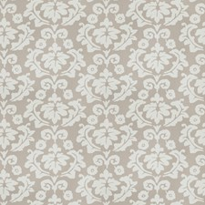 Grey Floral Decorator Fabric by Stroheim