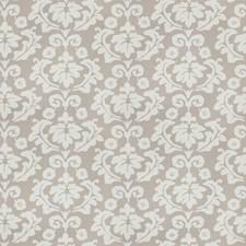 Grey Floral Decorator Fabric by Stroheim