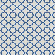 Cobalt Geometric Decorator Fabric by Stroheim