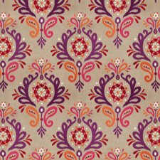 Sunset On Linen Damask Decorator Fabric by Vervain