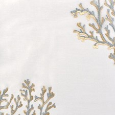 Natural/aqua Decorator Fabric by Highland Court