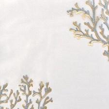 Natural/aqua Decorator Fabric by Highland Court