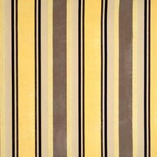 Yellow Maize Stripes Decorator Fabric by Vervain