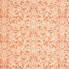 Sunset Orange Jacquard Pattern Decorator Fabric by Vervain