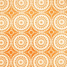 Pumpkin Geometric Decorator Fabric by Vervain