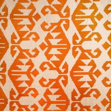 Pumpkin Embroidery Decorator Fabric by Vervain