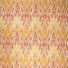 Tangerine Flamestitch Decorator Fabric by Vervain